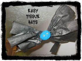 Easy Tissue #Bats #Halloween #Craft
