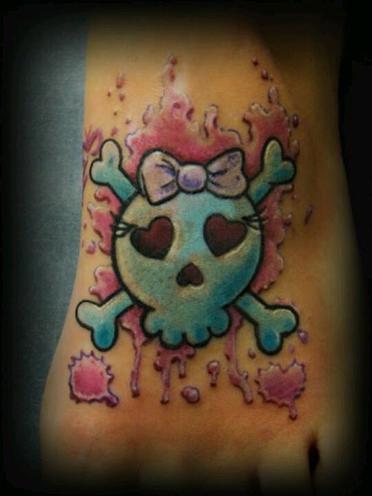 12 best girly skull tattoos images on Pinterest | Girly ...