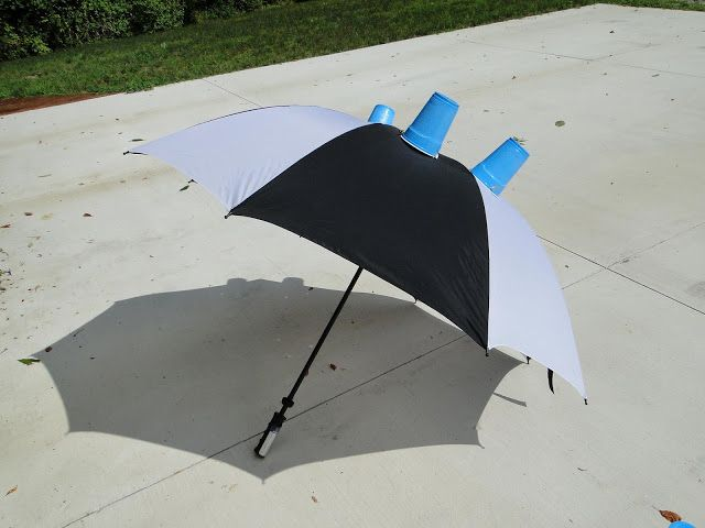 Trapping Deer Flies in Livingston County, Michigan: making and using the deer fly trap umbrella...I don't know if this would work, but my kids would love to walk around my yard with this umbrella catching deer flies!