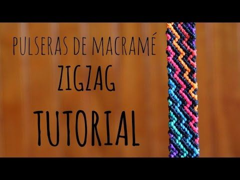 como hacer una pulsera de zig zag arcoiriz tutorial macrame how to make Es.PandaHall.com - YouTube