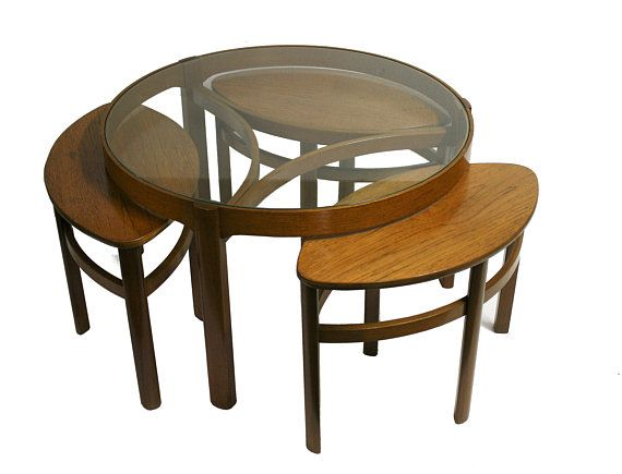 Vintage Trinity Nesting Tables By Nathan Furniture Model 5614 1960s Mid Century Nesting Tables Round Teak Nathan Furniture Coffee Table Teak Coffee Table