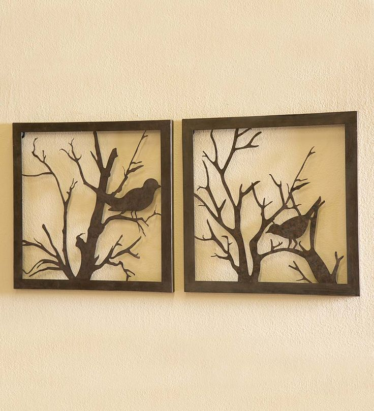 Metal Bird Wall Art, Set Of 2 | Wall Art | Bring The Beauty Of Nature To  Any Room With Our Cast Metal Wall Art, Featuring Birds On Delicate Tree Bru2026 Part 86