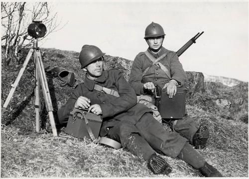 French in Norway  -  French soldiers at Narvik, May 1940.