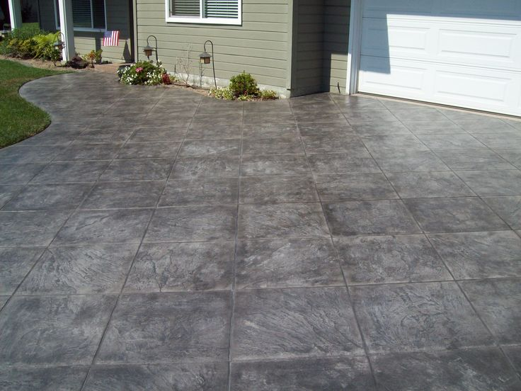 Stained black concrete driveway google search new for New concrete driveway