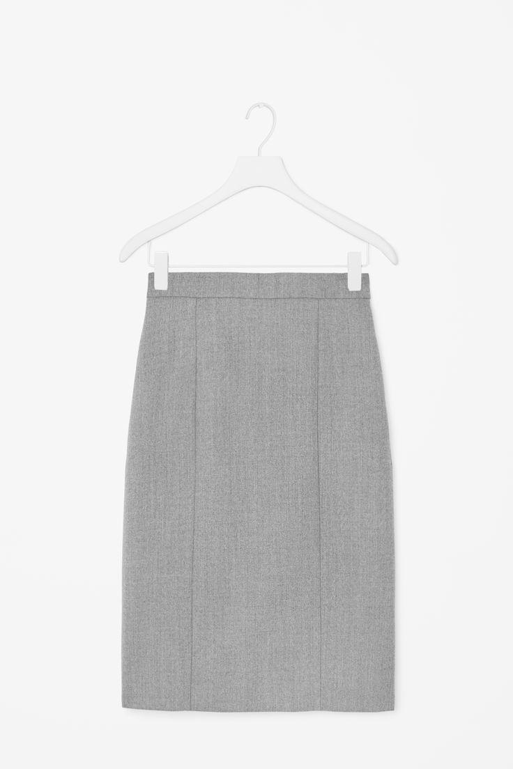 Wool melange skirt