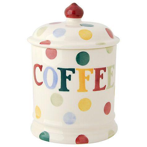 Buy Emma Bridgewater Polka Dot Text Coffee Storage Jar Online at johnlewis.com