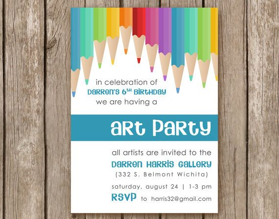 116 best images about Party – Art Party Invite