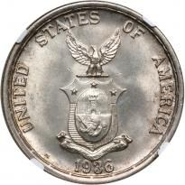 Philippines. Peso, 1936-M. NGC MS64 - Price Estimate: $200 - $250
