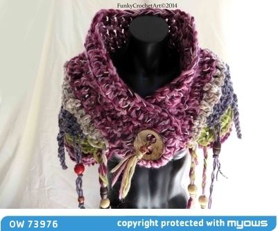 Exquisite Crochet Cowl /Neckwarmer OOAK