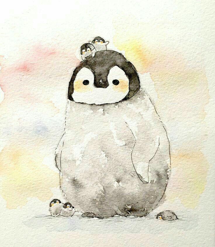 отделки пингвин рисунок смешное это очень