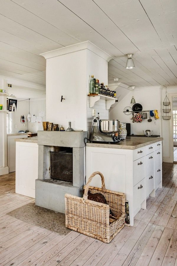 A Pared Back Swedish Summer Home On Gotland // Rustic Simple Kitchen