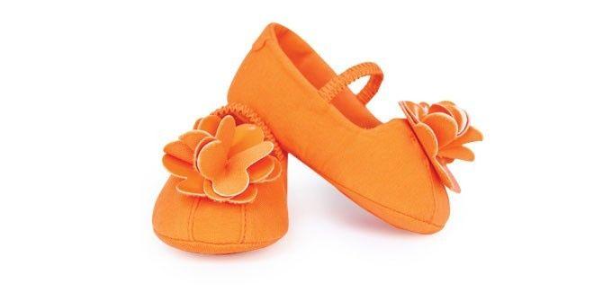 Trumpette babyschoentjes Oranje Jersey Mimis (18 tot 24 maanden)