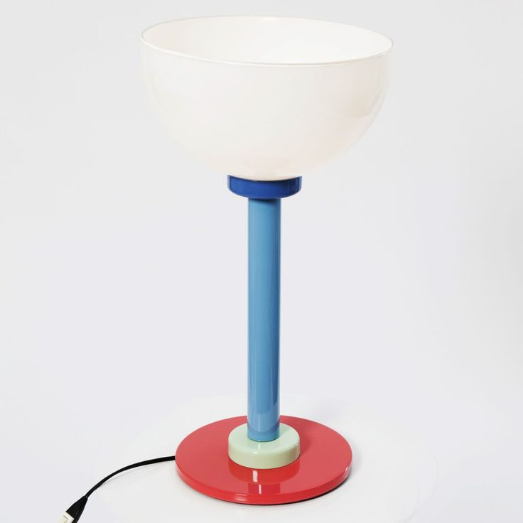 Designed by ETTORE SOTTSASS Circa 1980  Table lamp featuring a metal structure and opaline glass shade with a diameter of 28 cm and a 20 cm base.  SIZE Base Diameter: 20 cm Shade Diameter: 28 cm Height: 52 cm  STOCK 1 Available