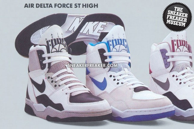 Air Delta Force ST High from the '90s!Nike High Tops Air Force, Air Delta, Freaker Vintage, Vintage Museums, Delta Force, St High, Sneakers Freaker, Force St, Nike Air