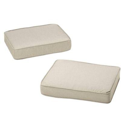 Rolston 2-Piece Outdoor Ottoman Replacement Cushion Set