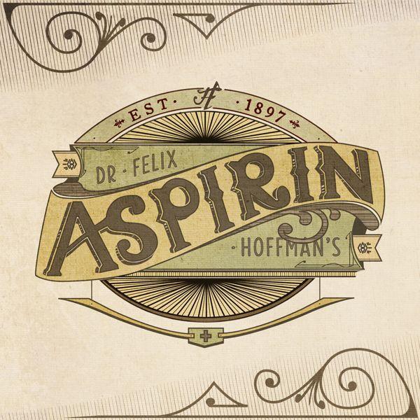 Dr. Felix Hoffman's Aspirin by Liam Lynch, via Behance