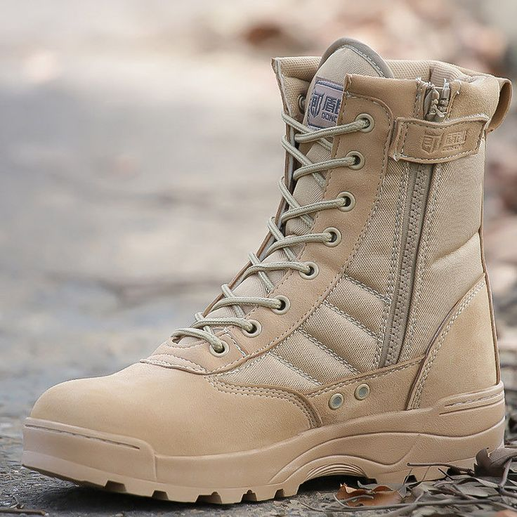 Men's Outdoor Tactical Ankle Boots High top Military Combat Safety Hiking Boots #Unbranded #DesertBoots