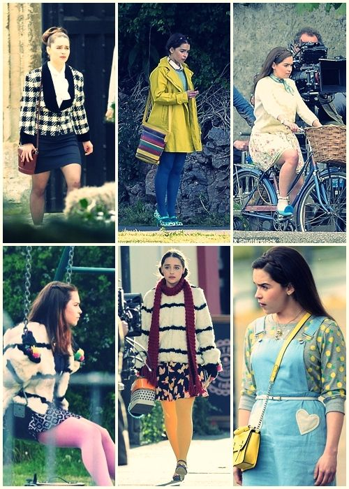 Lou Clark outfits  me before you movie