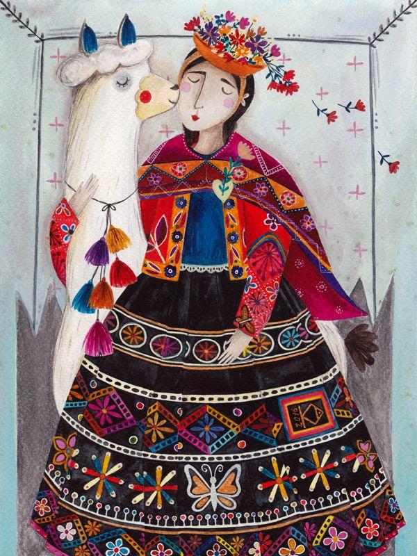 kürti andrea #imaginaryjourney #peru #illustration