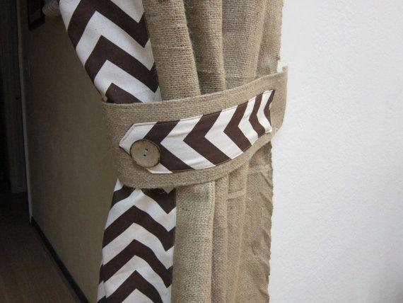 15 must-see Burlap Drapes Pins | Burlap curtains, Drapery ideas ...