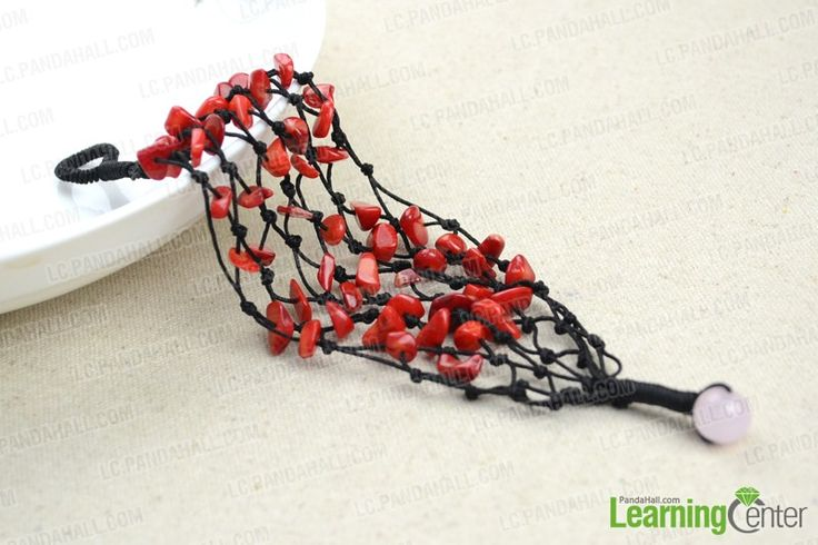 Chic Beading Design-Make Your Own Bracelets Using Coral Beads and String - Pandahall.com