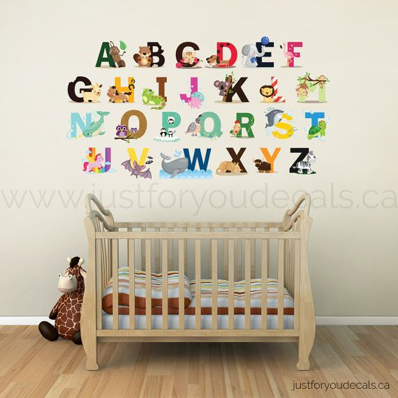 Alphabet Wall Decal   Nursery Wall Decal   Alphabet Wall Decal Nursery    Playroom Wall Decal Part 79