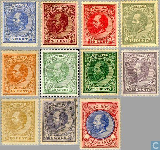 Postzegels - Nederland [NLD] - Koning Willem III - 5e emissie