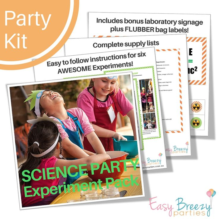 How to run your own science party experiments - Easy to follow instructions, with supply lists and bonus printables. #easybreezyparties #scienceexperiments