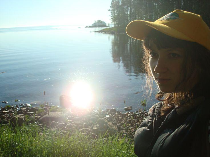 По дороге к лагерю - залив Белого моря
