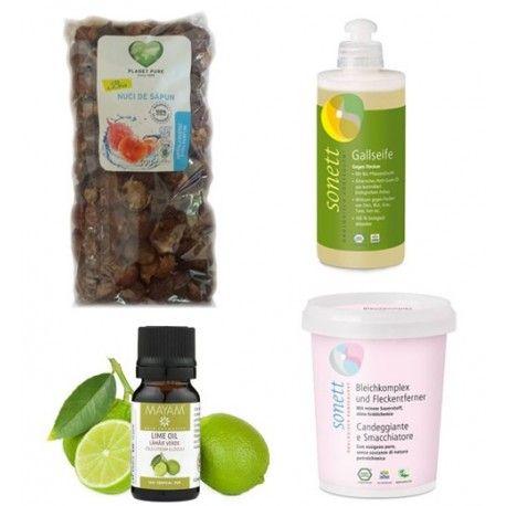 Set Complet Lămâie verde, o combinatie de produse potrivite pentru a putea folosi nucile de sapun in toate variantele posibile