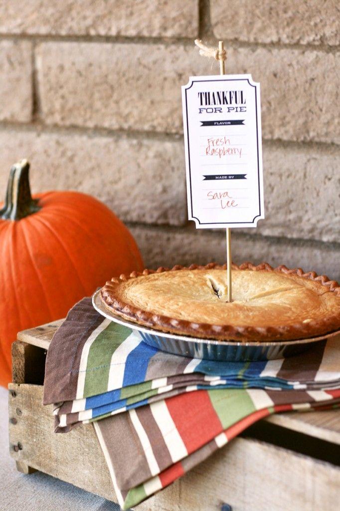 Pie Tags Printables by Paging Supermom - Skip To My Lou
