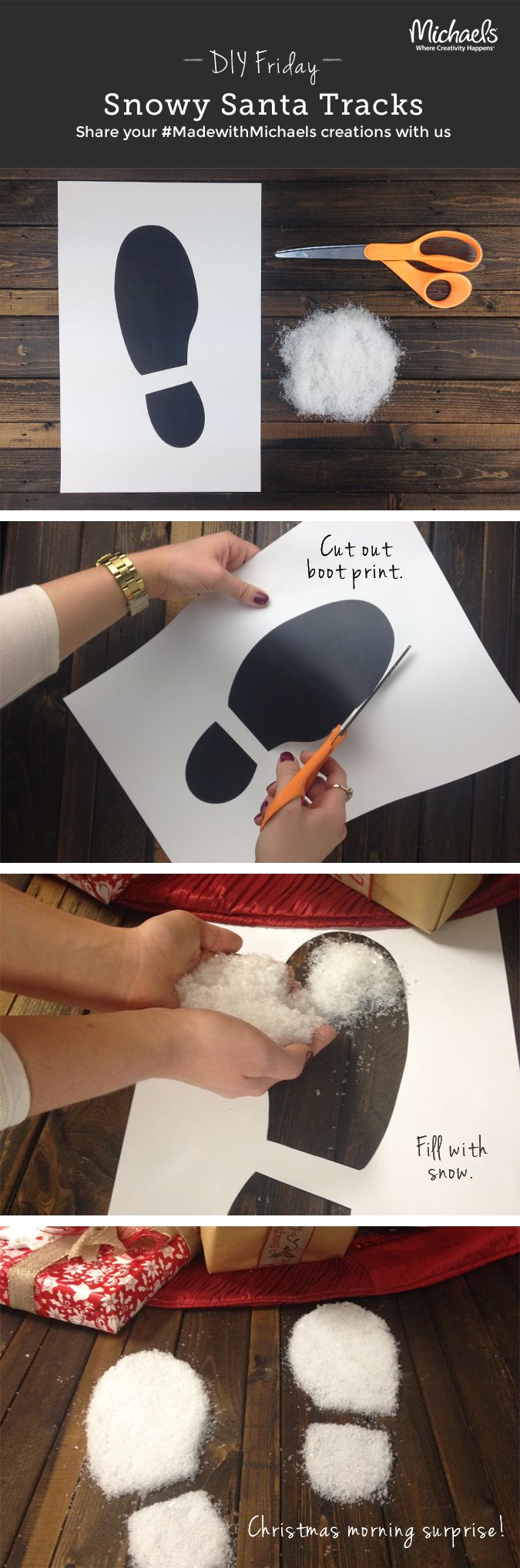 DIYFriday DIY Snowy Santa Tracks to delight the kids on Christmas morning