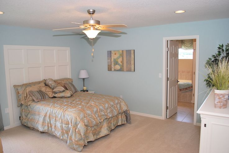 Using a light paint color on all four walls creates a calming dreamy bedroom color scheme - Bed room color for girls ...