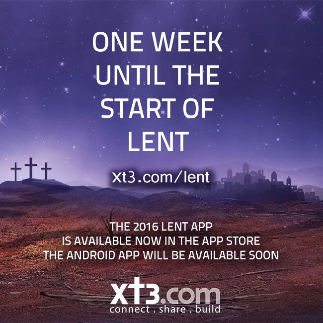 Check out our Xt3 Lent Calendar 2016 promotional video with the theme of Mercy. The first door of the calendar will open on Ash Wednesday 10th of Feb and each day there will be a new reflection, podcast or article to help you on your Lenten journey. www.xt3.com/lent