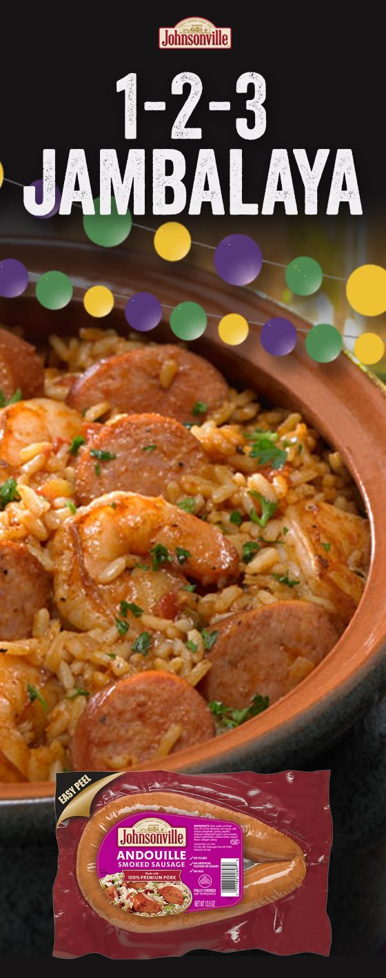 Simple and easy Jambalya that is perfect for any level of cooking experience! Sausage, shrimp, chicken, spices - need we say more for the ultimate recipe! Get ready to add this Cajun and Creole inspired dish to your recipe rotation.