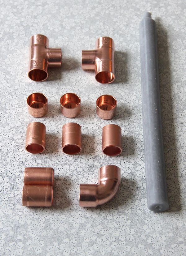 Bougeoir cuivre - DIY copper candle holder