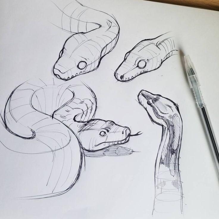 Pin On Dessin Au Crayon In 2020 Snake Art Snake Drawing Animal