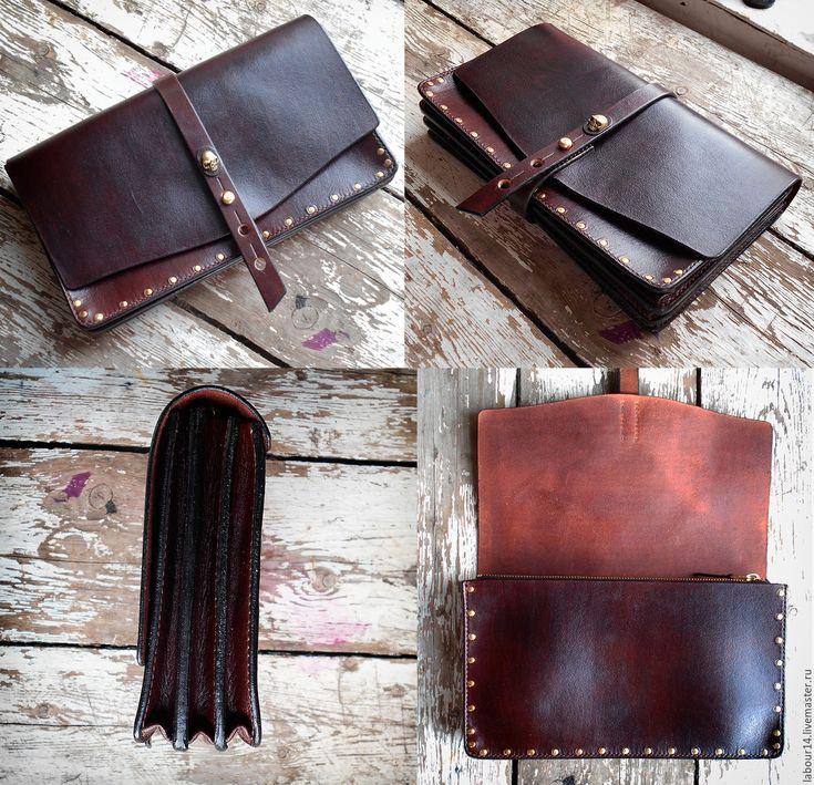 Купить Клатч кожаный Caribbean Tale 2 - коричневый, клатч, клатч ручной работы