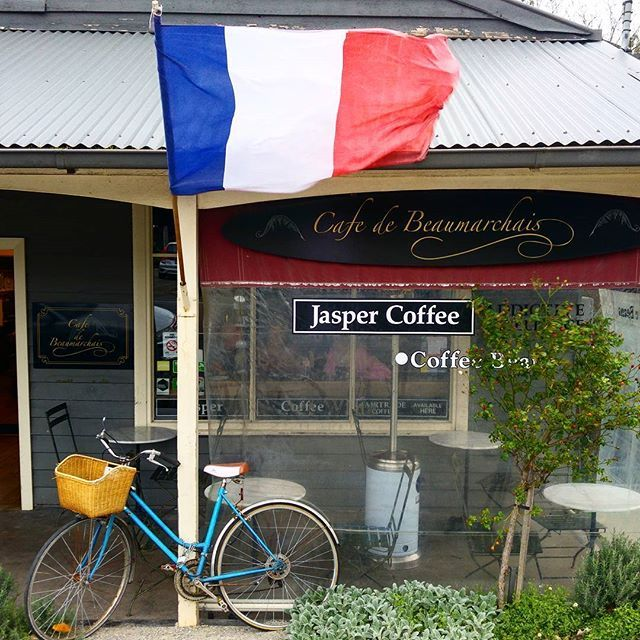 Flying the french flag high on Mt Dandenong is Cafe De Beaumarchais. Great coffee, delectable treats and elegance galore. #french