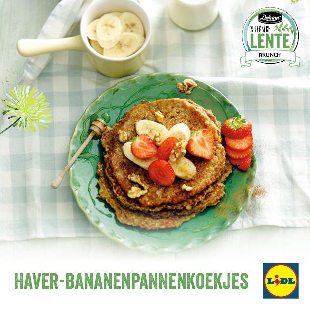 Recept voor Haver-Bananenpannenkoekjes #Lente met #Lidl #Brunch