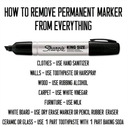 Sharpie removal