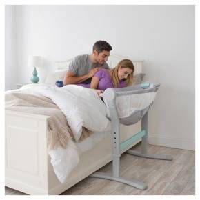 Designed to make those first exhausting weeks of early parenthood a little bit easier, the SwaddleMe® By Your Bed™ Bedside Sleeper by Summer Infant® is the only bedside sleeper with adjustable incline, ensuring your little one sleeps comfortably through the night. Adjustable height allows you to keep baby right by your side, while still safely occupying his own space. <br><br>• Sleep with baby right by your side with a safe alternative to bed sh...
