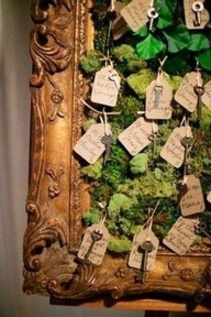Plan de table thème forêt enchantée