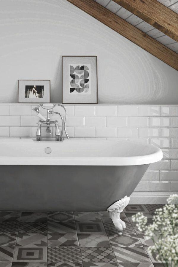 83 best grey bathrooms images on pinterest modern for Roll top bathroom ideas