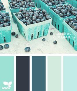 turquoise, aqua and navy