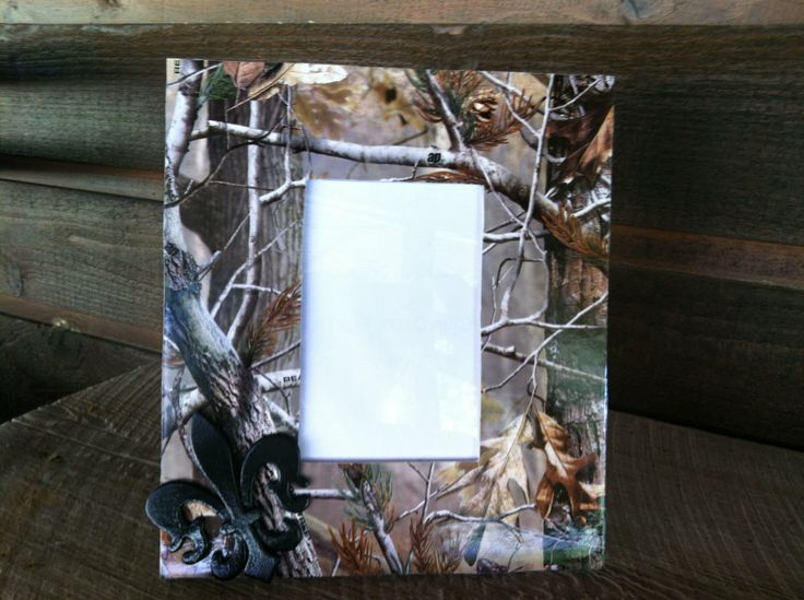 Camo Picture Frame by CajunCreation on Etsy, $10.95