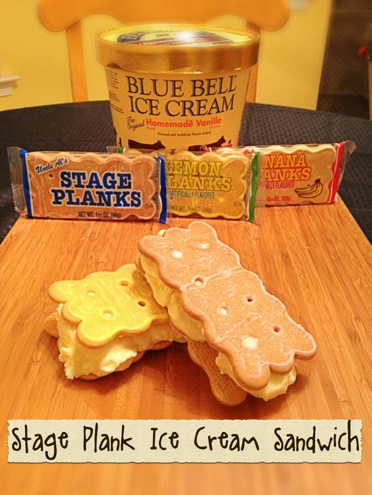 Stage Planks and Blue Bell Ice Cream! How simple and ...