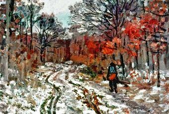 Biografía:(Claude Oscar Monet; París, 1840 - Giverny, 1926) Pintor francés, figura clave del movimiento impresionista. Sus inclinaciones artísticas nacieron del contacto con Boudin en Le Havre, y las excursiones al campo y