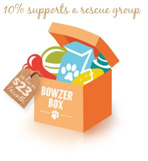 Bowzer Box - a Canadian based toy/treat subscription for dogs of all sizes - they only send out wheat-free treats - PLUS they support many rescues and pet related charities - If you order add NK9 in the discount coupon box and my rescue, Naked K9 and Small Dog Rescue will benefit.