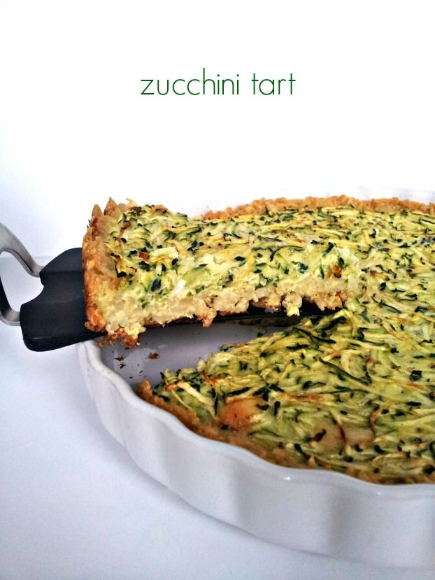 "Spring Zucchini Tart. Lauren's Notes: A new favourite - very light, very malleable to your tastes by adding ingredients, seasoning, more cheese etc. The brown rice ""crust"" is a stroke of genius."